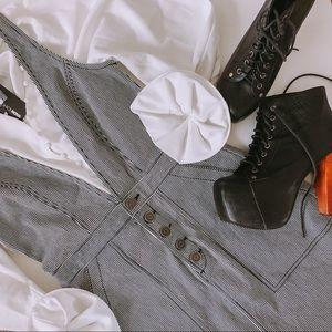 Joie denim striped jean dress small NWOT